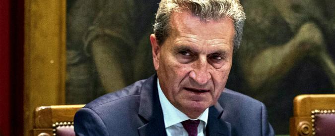 Ue, Oettinger smentisce Moscovici e chiede una procedura contro la Francia