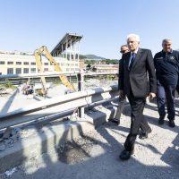 Ufficio Stampa Quirinale, 18 agosto.  Mattarella sul luogo del crollo del Ponte Morandi
