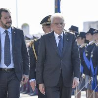 Foto Fabrizio Corradetti/LaPresse,  30 settembre.  Ostia, 50esimo anniversario della costituzione dell'Associazione Nazionale Polizia di Stato con il ministro Matteo Salvini