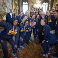 Foto Ufficio Stampa Quirinale, 29 ottobre.  Mattarella riceve la Nazionale italiana femminile di pallavolo finalista ai Mondiali 2018 in Giappone