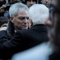 Foto Claudio Martinelli/LaPresse, 20 dicembre, Trento. Nella foto Mattarella con il padre di Antonio Megalizzi ai funerali del giovane giornalista trentino
