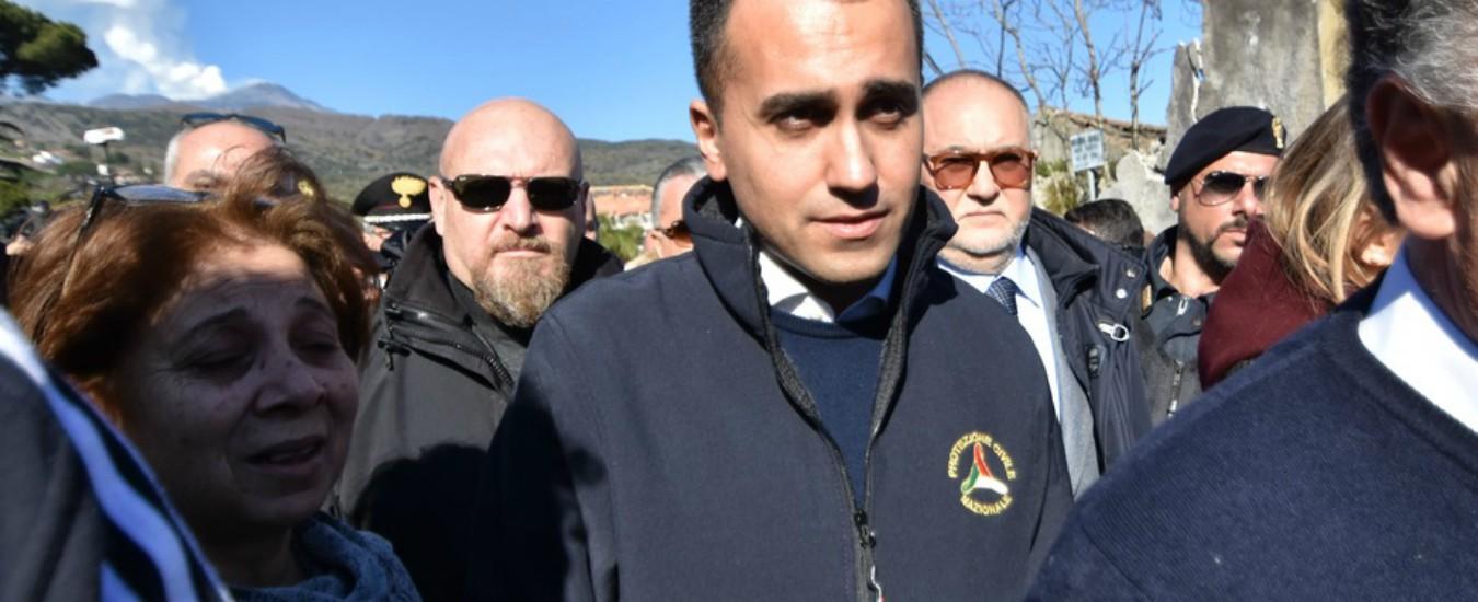 """Terremoto Catania, Bertolaso a Di Maio: """"Si tolga la maglia della Protezione civile"""""""