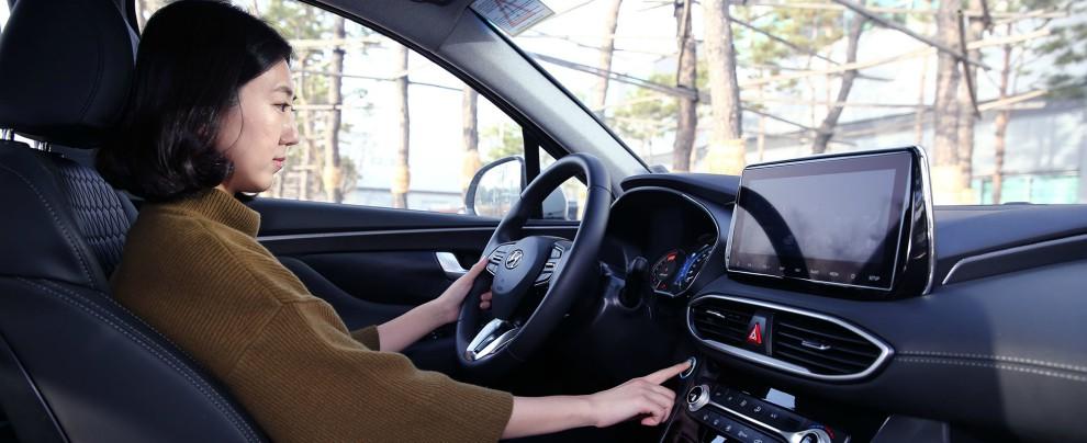 Hyundai Santa Fe, per aprire lo sportello e metterla in moto basterà un dito