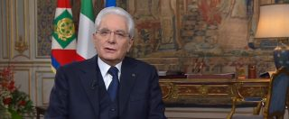 """Mattarella, discorso di fine anno: """"Sicurezza si realizza se è garantita la convivenza. Auguri agli italiani e agli immigrati"""""""