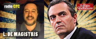 """Migranti, de Magistris: """"Criminale comportamento di Salvini e governo. La storia li giudicherà e spero anche un tribunale"""""""