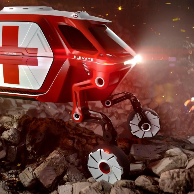 Hyundai Elevate concept, l'auto che cammina sulle proprie gambe