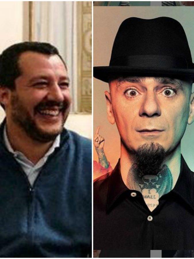 """J-Ax e Salvini, scontro social tra il rapper e il vicepremier a colpi di """"baci"""". Gli haters attaccano J-Ax, lui: """"Sarete tutti querelati"""""""