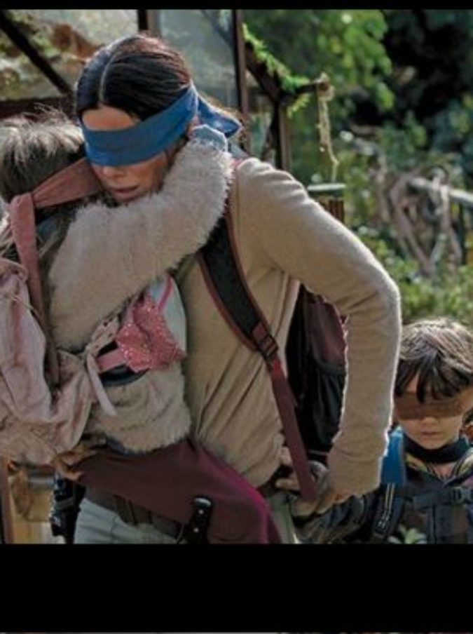 Bird Box Challenge, la nuova pericolosa sfida che parte da un film di Netflix con Sandra Bullock