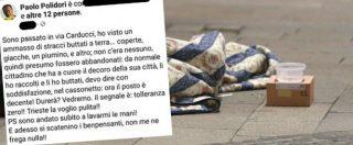 Trieste, vicesindaco leghista getta la coperta di un clochard ma sbaglia cassonetto: rischia multa fino a 450 euro
