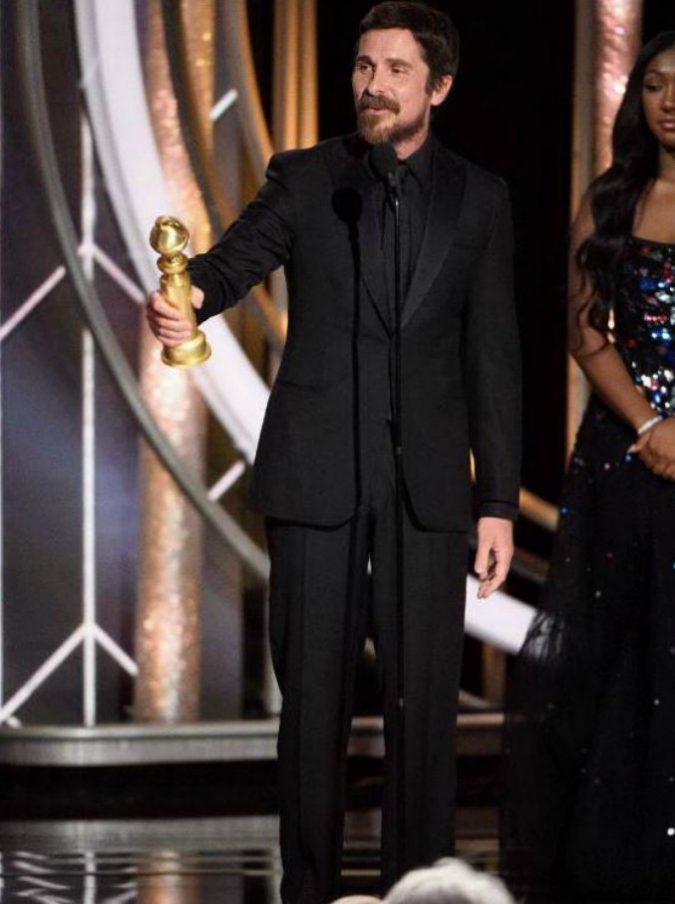 """Golden Globes 2019, il discorso choc di Christian Bale: """"Ringrazio Satana per avermi ispirato"""". I satanisti lo acclamano"""