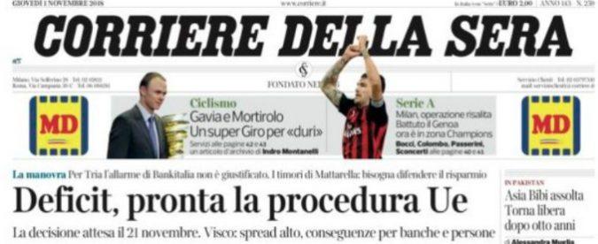 Corriere della Sera, quella sulla procedura Ue era una fake news. Quanto ha inciso sullo spread?