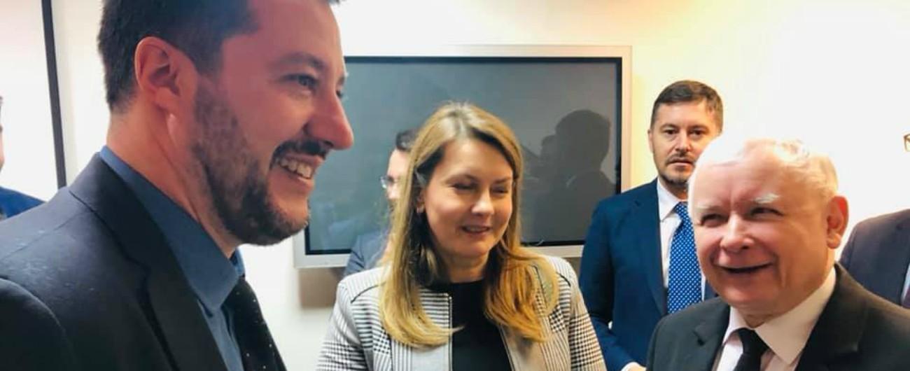 """Polonia, Salvini: """"Via a fronte sovranista Con Kaczynski contratto come con M5s per essere il primo movimento nell'Ue"""""""