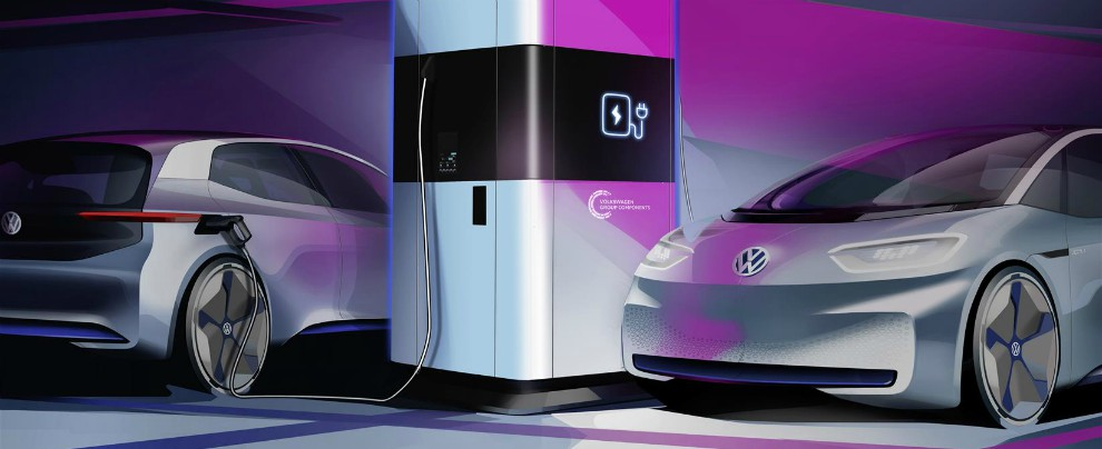 Volkswagen inventa la stazione mobile di ricarica per auto elettriche e vuole diventare fornitore di energia pulita