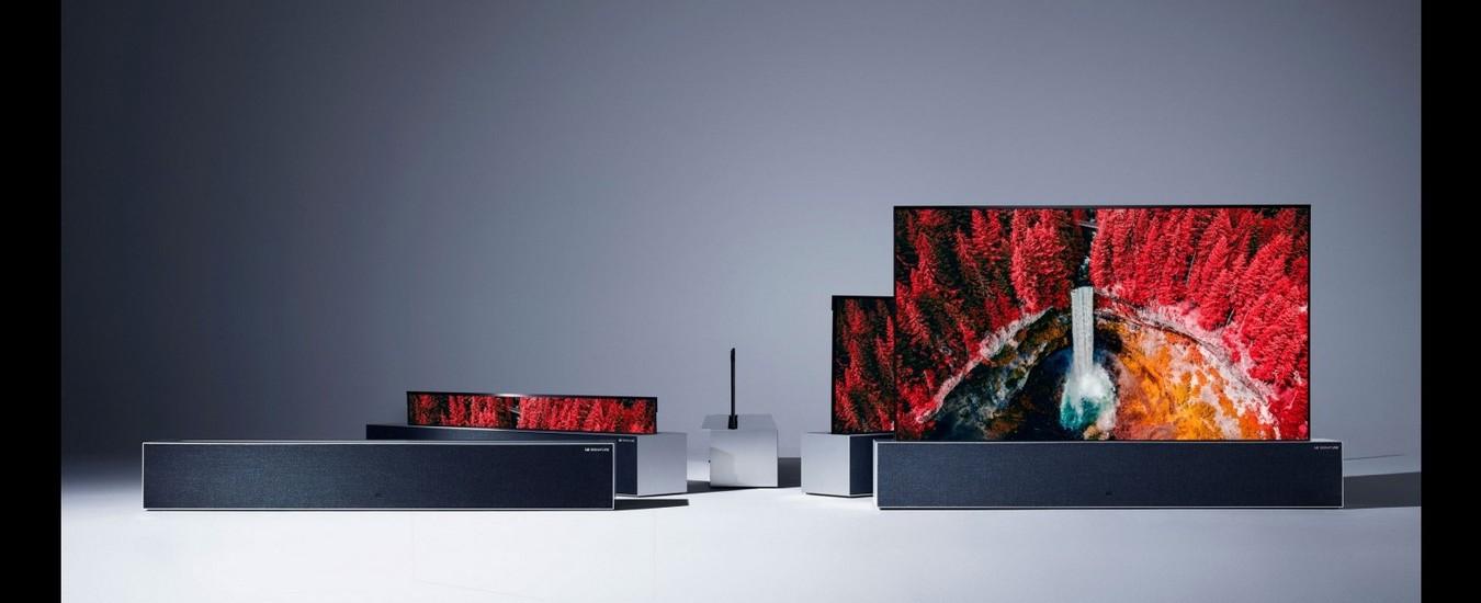 Pronta la TV che si arrotola, è firmata LG e arriverà a metà 2019