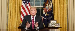 """Usa, Trump: """"Crisi umanitaria al confine con il Messico, il muro è necessario per proteggere gli Stati Uniti"""""""