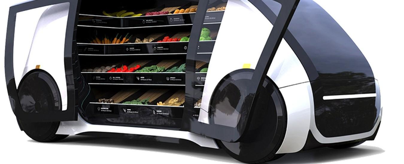 Il camion della verdura 2.0 si chiama con l'app, non ha conducente e i pagamenti sono automatici