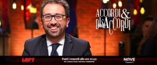 """Accordi&Disaccordi, Alfonso Bonafede su Nove: """"Rivendico il video sulla cattura di Battisti però, riguardandolo, non mi è piaciuto"""""""