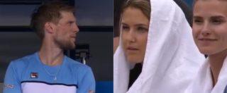 """Seppi, il gesto romantico per la moglie durante la partita degli Australian Open. Telecronisti stupiti: """"Che gentiluomo"""""""