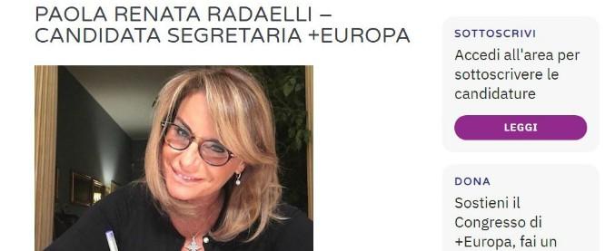 """+Europa, non più candidata a segreteria Paola Renata Radaelli. La lista: """"Restituite 191 quote di iscrizioni collettive"""""""