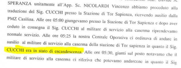 """Cucchi, il carabiniere: """"Il maresciallo Mandolini mi dettò l"""