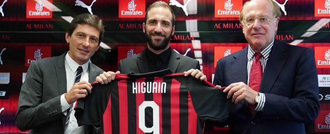 Higuain, il Milan e quei 18 milioni in sei mesi buttati dalla finestra: simbolo di una società senza un progetto vero