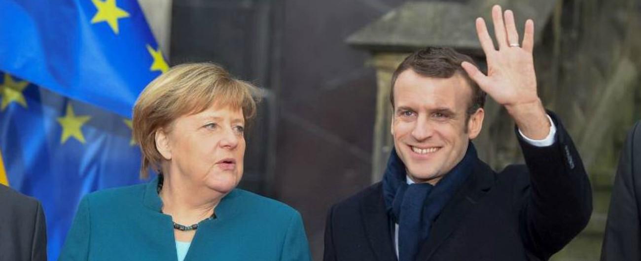 """Trattato di Aquisgrana, Merkel e Macron: """"Insieme di fronte a populismo"""". Tusk: """"Non sia un'alternativa a dialogo l'Ue"""""""