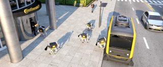 Cani robot per consegnare pacchi a domicilio. La nuova idea di Continental
