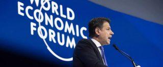 """Conte a Davos: """"Con euro più debito e meno crescita. Italiani pazienti per anni con Ue: riportiamo il potere al popolo"""""""