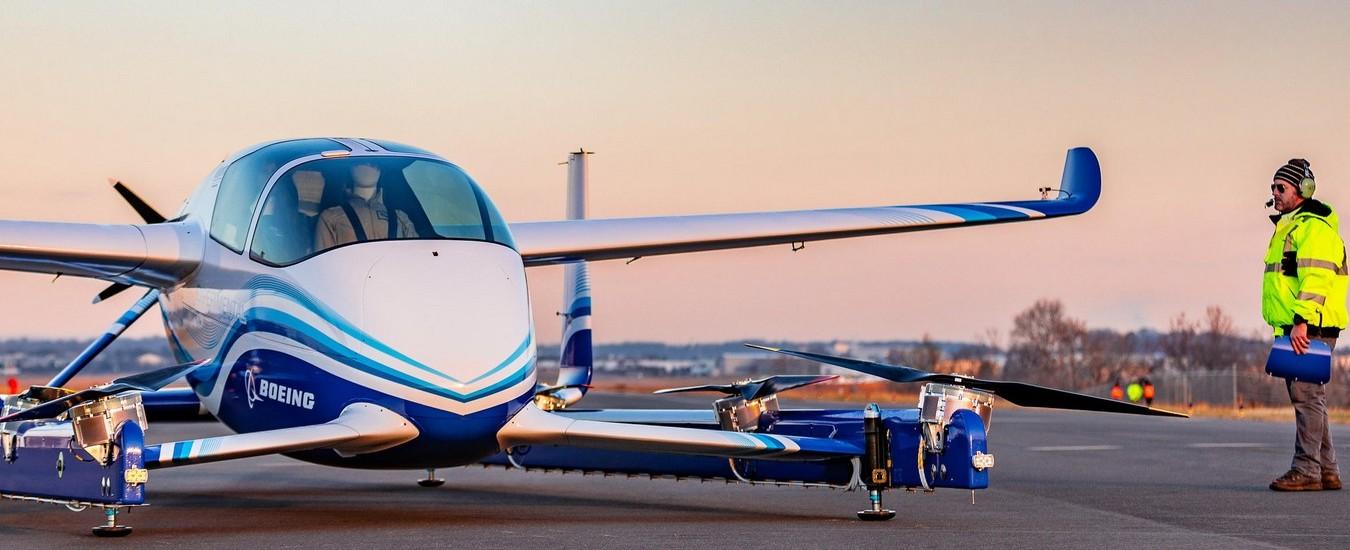 Boeing testa in volo l'aerotaxi a guida autonoma, buona la prima