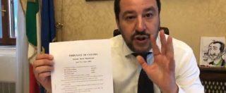"""Diciotti, Tribunale dei Ministri chiede processo per Salvini. Lui: """"E' tutto vero, non siamo su Lercio. Ma io non mollo"""""""
