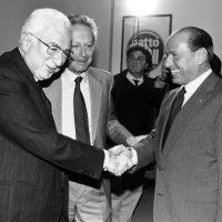 Cossiga, Segni and Silvio Berlusconi