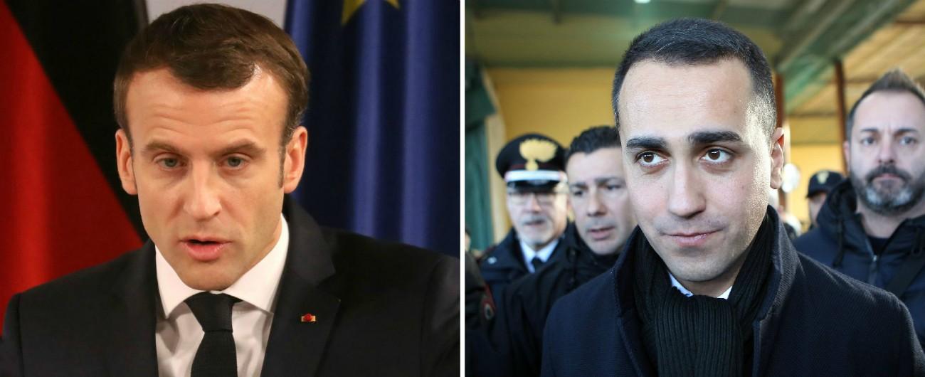 """Macron: """"Italia merita leader all'altezza"""". Di Maio: """"Lo decidono gli italiani. Prima di fare la morale, liberi gli Stati africani"""""""