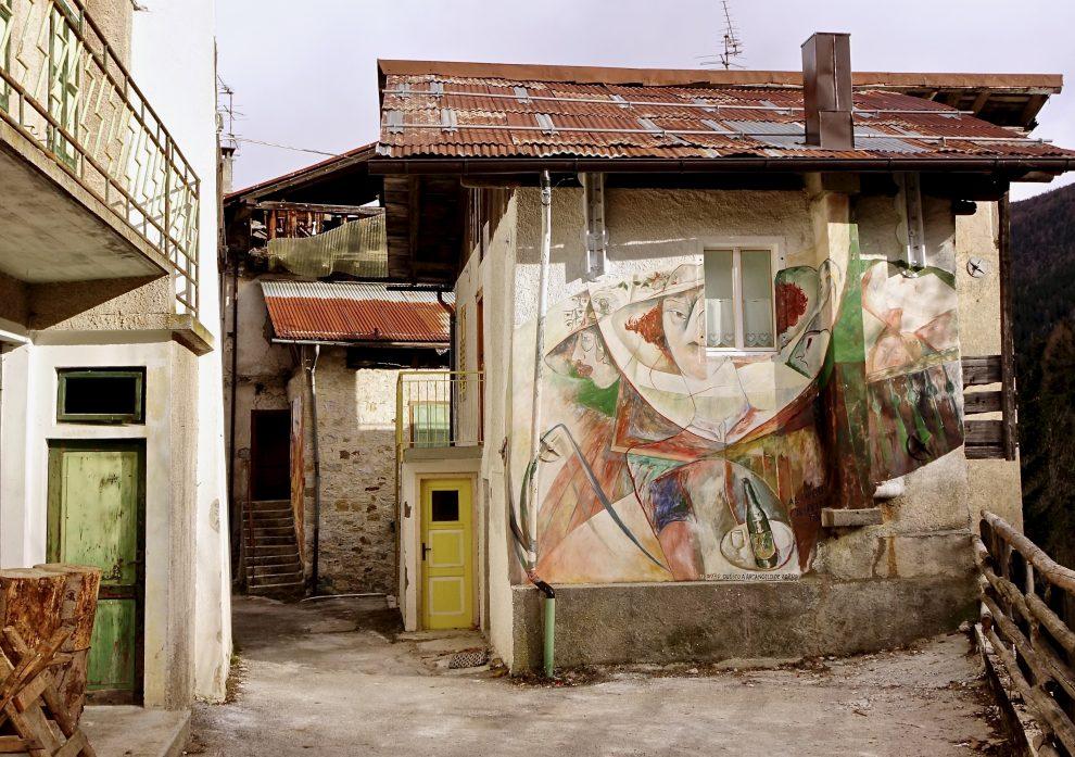 Murale dedicato al capeler-Cibiana