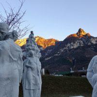 Trittico dello scultore Fabiane a Fortogna, Cimitero delle vittime del Vajont
