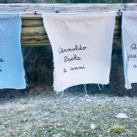 Vajont-Le bandierine dei bambini vittime del disastro