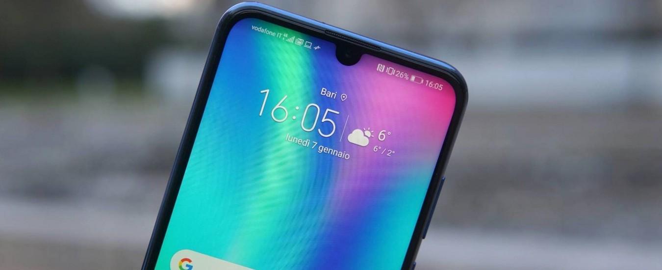 Honor 10 Lite, smartphone da 239 euro con schermo grande e autonomia elevata