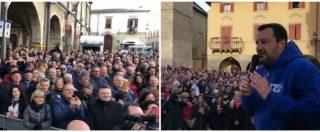 """Teramo, al comizio di Salvini la richiesta dal pubblico: """"Togli la scorta a Saviano"""". E lui: """"Ma chi è Saviano?"""". E la folla ride"""
