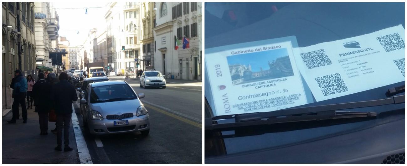 """Roma, il consigliere leghista Maurizio Politi parcheggia l'auto un'ora sulla corsia preferenziale. Lui: """"Non c'è parcheggio"""""""