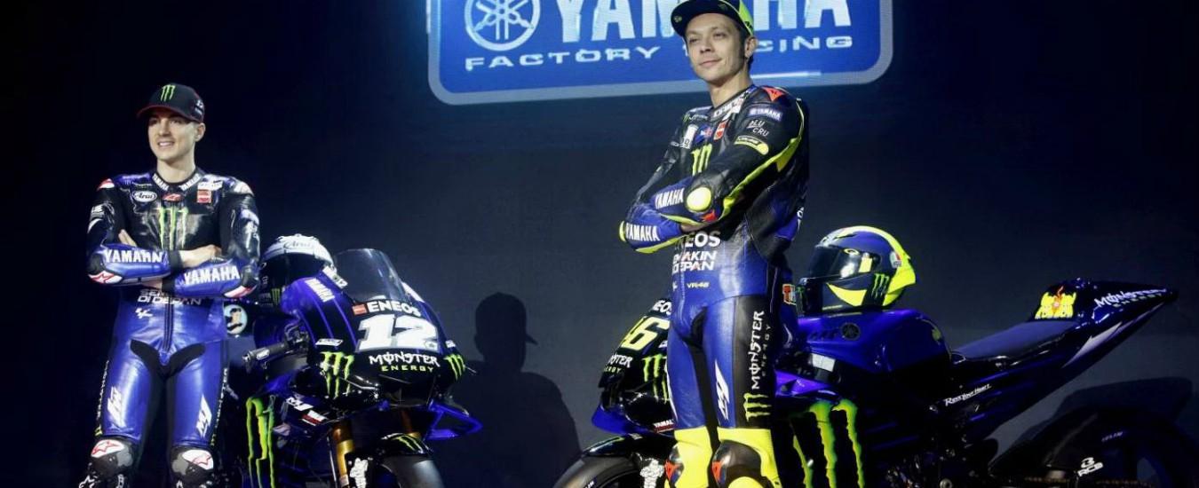 """Valentino Rossi e la nuova Yamaha M1 nerazzurra: """"Aggressiva e interista"""""""