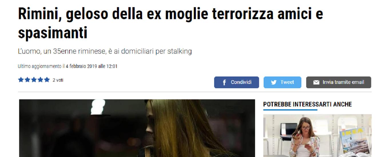 Stalking, ecco un pessimo modo per parlarne