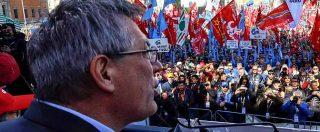 """Sindacati in piazza a Roma, Landini: """"Noi siamo il cambiamento, governo ci ascolti"""""""