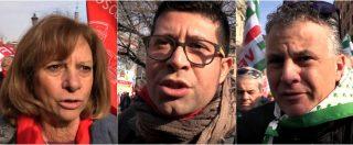 """Roma, le voci dalla piazza dei sindacati: """"Reddito di cittadinanza? Soldi buttati. Quota 100 penalizza fasce di lavoratori"""""""