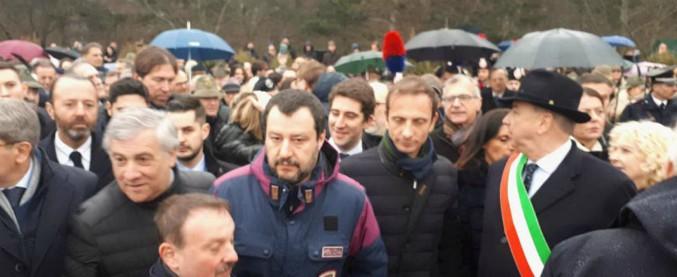 """Foibe, il giorno del ricordo: Salvini e Tajani a Basovizza. Il ministro: """"Non esistono martiri di serie A e di serie B"""""""