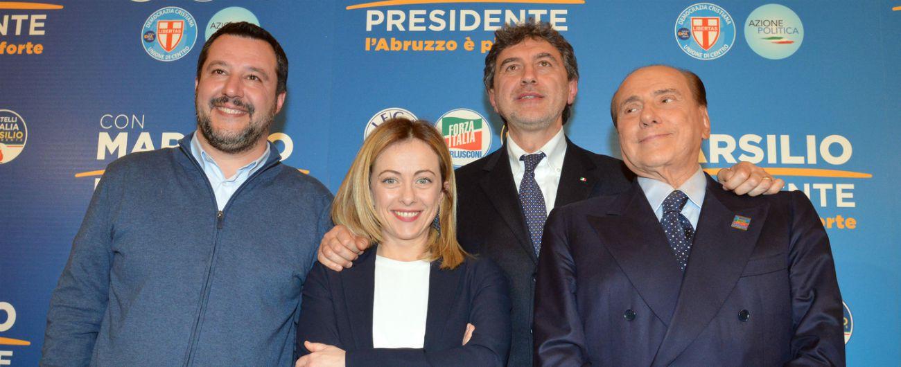 Abruzzo, i risultati: la Lega trascina il centrodestra al trionfo. Carroccio primo partito, il M5s non oltre il 20%