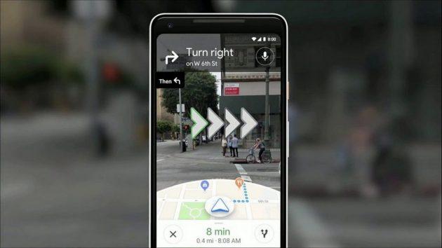 Google Maps sperimenta la Realtà Aumentata e l'Intelligenza Artificiale per guidare
