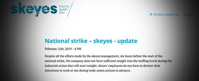 Belgio, spazio aereo chiuso per un giorno. Lo sciopero generale ferma tutti gli aerei dalle 22 di martedì per 24 ore