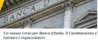 """Bankitalia, blog M5s: """"Indipendenza non diventi mancanza di responsabilità. Cambiamo senza timore di poteri forti"""""""