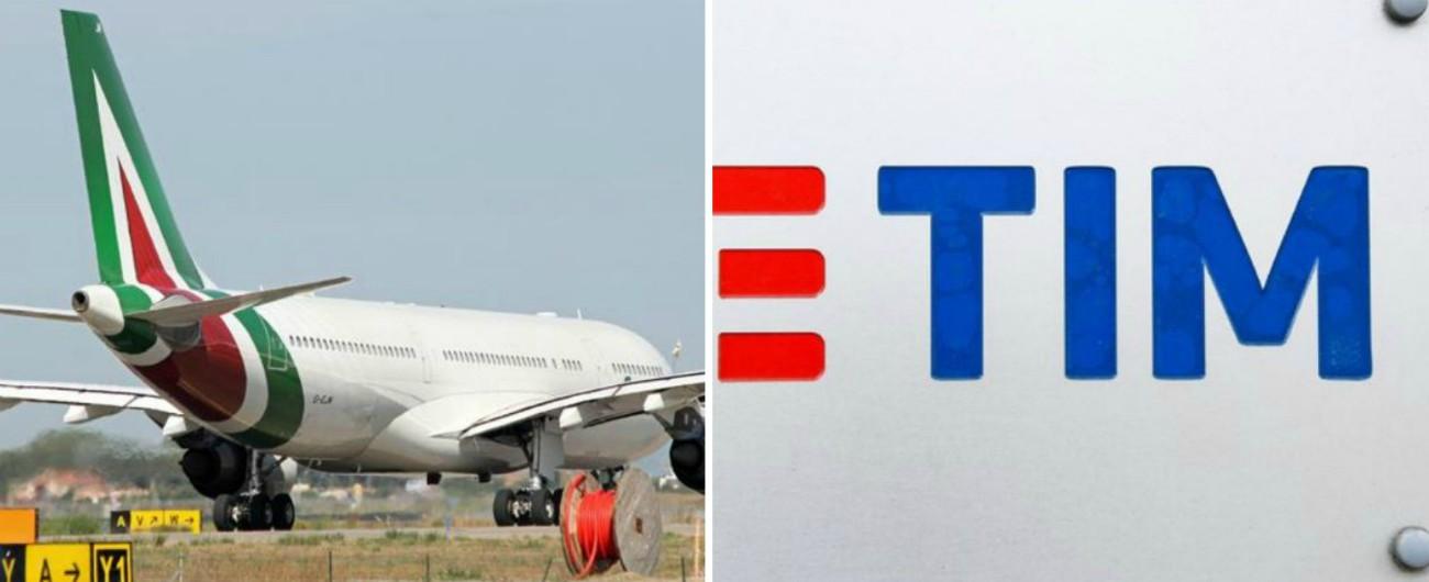 Alitalia e Tim, torna in forze lo Stato imprenditore. E saranno i cittadini a dover mettere mano al portafoglio