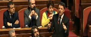 """Decretone, Renzi: """"È atto di masochismo, fine dell'innocenza del governo. Tria assente? Capisco il suo imbarazzo"""""""