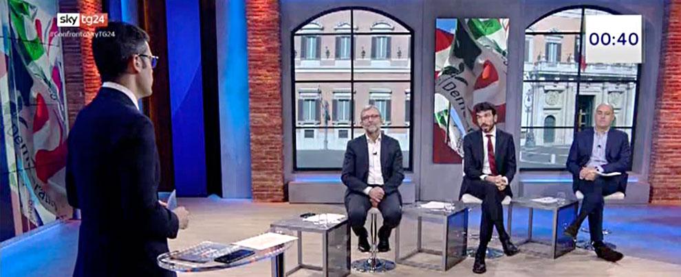"""Primarie Pd, il confronto tra candidati. Giachetti, Zingaretti e Martina d'accordo sulla patrimoniale: """"Non va fatta"""""""
